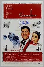 JERRY LEWIS Signed CINDERFELLA Movie Poster 11x17 Photo PSA/DNA COA AUTOGRAPH