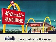 Vintage Retro Reproduction McDonald's Hamburgers Metal Sign 9x12