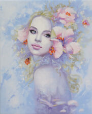 Original Oil Painting - Fragrance of flowers | Fantasy by Timar