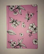 A5 Ruled Hardback PINK FLORAL Notebook Journal Writing Pad Jotter STATIONERY