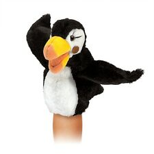 Puffin Bird Puppet Little w/ Movable Wings & Beak, Folkmanis MPN 3027, 3 & Up