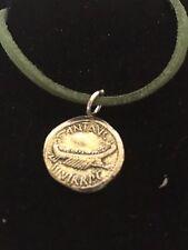 "Mark Antony Denarius Coin WC70 English Pewter On a 18"" Green Cord Necklace"