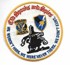 """Round Old Spooks and Spies (Asa Army Security Agency) 4.5"""" patch"""