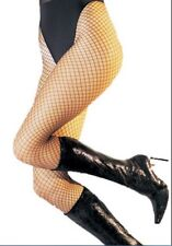 FREE P&P Leg Avenue Black Larger Net Spandex Fishnet Tights 90-160 LBS  One Size