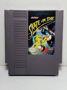 SKATE OR DIE NES Nintendo Original Authentic Skateboarding Game