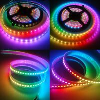 USA Stock! WS2812B 5050 RGB LED Strip 5M 150 300 Leds 144 60LED/M Addressable 5V