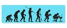 Evolution Funny Ape to Office Car Vinyl Sticker - SELECT SIZE