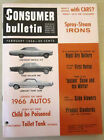 Vintage 1966 Consumer Bulletin Magazines - Cars Appliances Tools Buying Guides photo