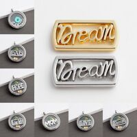 5pcs Silver/Gold Alloy Words Floating Charm for 30mm Glass Living Memory Lockets