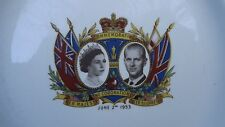 RARE 1953 Coronation of the Queen Plate Depicting Prince Philip Made in Canada