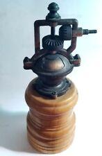 Vintage Hand Crank Pepper Grinder Kit Mechanism Antique Copper