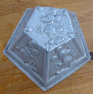 Rare Vintage Early Disney Jelly Mould 1930s Mickey Minnie Mouse Pluto Clarabelle