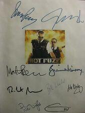 Hot Fuzz Signed Film Script X9 Simon Pegg Nick Frost Bill Nighy Edgar Wright rpt