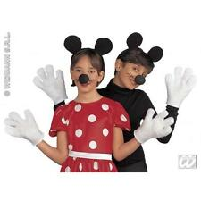 Para Niños Mickey Mouse Dress Up Fancy Dress diguise Kit Set Orejas, Nariz Y Guantes