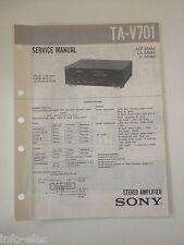 Schema SONY - Service Manual Stereo Amplifier TA-V701 TAV701