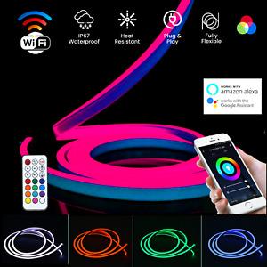 ATOM LED RGB Neon Flex Light 24V 16x16 IP67 Light Outdoor RGB Neon Flex UK Plug