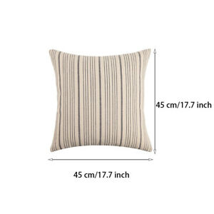 2pcs Portable Easy Clean Couch Bed Striped Design Sofa Cushion Covers Home Decor