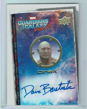 Guardians of the Galaxy Vol 2 Marvel Autograph Card MT8 Dave Bautista as Drax