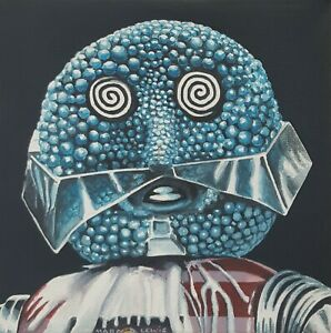 DR WHO DOCTOR WHO ORIGINAL ART - KandyMan 'The Happiness Patrol' Canvas Painting