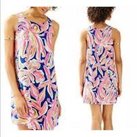 New NWT $198 Lilly Pulitzer JACKIE SHIFT DRESS: Resort Navy Banana Flambe XS