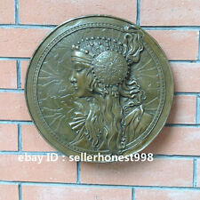 Western Pure Bronze Greek goddess Relief  European style Art Deco Sculpture