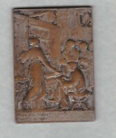 19TH CENTURY FRANCE SILVER ON BRONZE CONSERVATOIRE DES ARTS MEDAL USED CONDITION