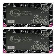 2 Disney Alice in Wonderland Cheshire Cat License Plate frames