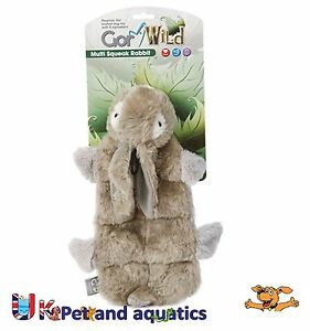 Gor Pets Dog Toy, Wild Multi-Squeak Rabbit 30cm GW22