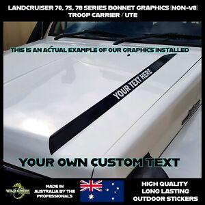Toyota Landcruiser Bonnet Stickers Kit 70  75 78 series Troopy & Ute 4WD