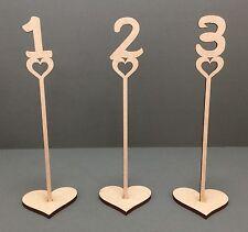 F92 5x WEDDING DAY tabella Numeri posizionamenti DECORAZIONI pezzo mantenere MDF