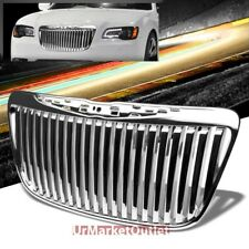 Chrome Vertical Style Replacement Front Grille For Chrysler 11-13 300 LD V6/V8
