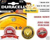 1 x Duracell 377 SR626SW AG4 SR66 D377 Silver Oxide Watch Batteries Expiry 2016