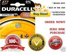 1 x Duracell 377 SR626SW AG4 SR66 D377 Silver Oxide Watch Batteries
