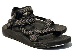 Teva Hurricane Sport S/N 6640 mens black grey hiking sport sandals size 8
