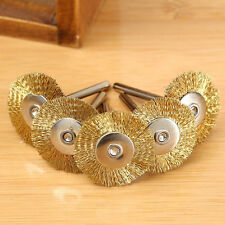 5PCS Brass Steel Wire Brush Polishing Wheels Set Kit for Rotary Tool