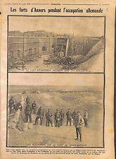 Fort Ertbrandt & Gravenwerth Anvers Feldgrauen Deutsches Heer Belgique WWI 1914