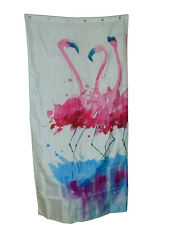 Dancing Flamingos Shower Curtain Size 70 X 70 Nwt Polyester