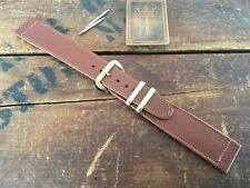 """19mm 3/4"""" New Old Stock 1950s Calfskin Leather Long Vintage Watch Band nos"""