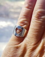Retired James Avery Heart Cut Out Ring Sterling Silver