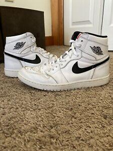 Air Jordan 1 High OG Prm Ying Yang Size 8.5 white