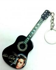 Elvis the king Presley 10cm Wooden Guitar Tribute Key Chain