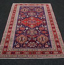 Orient Teppich Seide 151 x 112 cm China Kaukasus Dunkelblau Silk Carpet Rug Blue