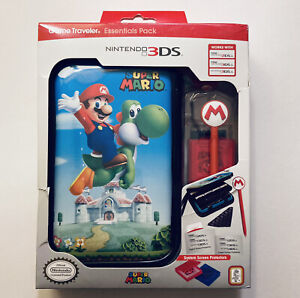 Nintendo 3DS 2DS XL Game Traveler Essentials Pack Super Mario System Case