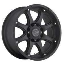 "17"" BLACK RHINO GLAMIS MATTE BLACK WHEELS RIMS 17x9 6x135 12et"