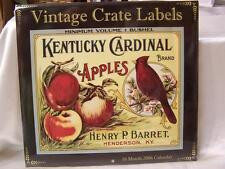 2006 VINTAGE CRATE LABELS 16 month Calendar NEW Sealed Studio 18 Great Prints