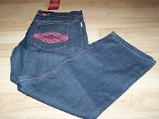 Men's Size 40 X 31 Blac Lacquer Black Red Denim Jeans New w Defective Zipper