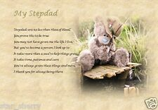 STEPDAD / STEPFATHER GIFT - personalised poem written by seller!
