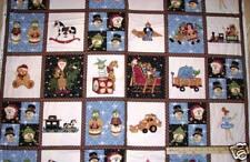 "Toys Toys Toys Snowman FLANNEL Christmas Northcott Fabric Panels 23"" F3801"