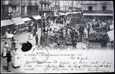 FRANCE ~ 1902 DIEPPE ~ La Place National et la Grande Rue ~ Flower Market