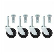 4 x swivel Castor Wheels With Inserts-For Divan Bed Base Sofa Settee Chair